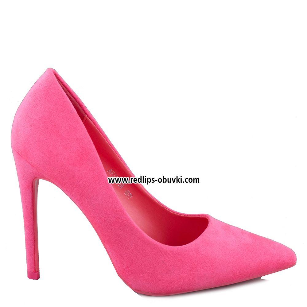 Red dress red lips obuvki